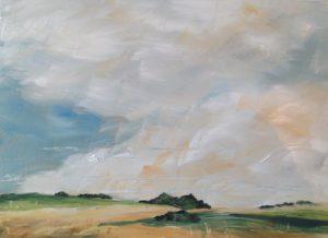 Derbyshire Dales Landscape oil on panel 2018 number 2