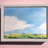 Landscape painting by michael statham framed 2